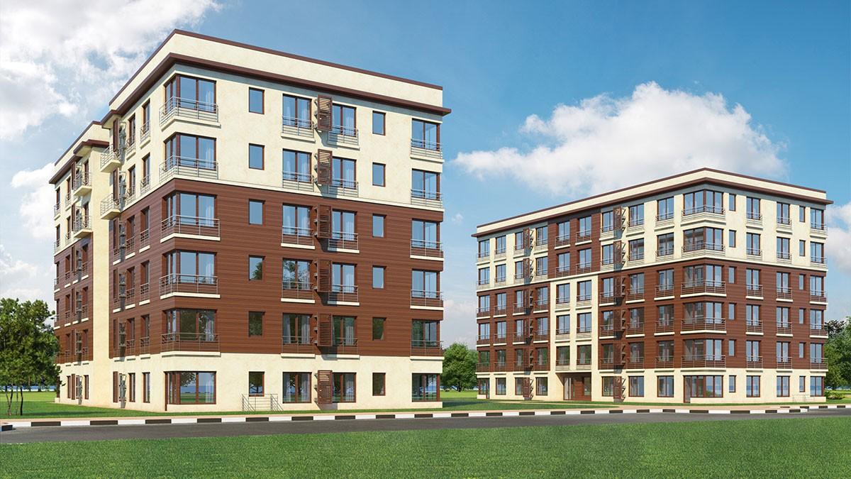 Проект комплекса среднеэтажной жилой застройки
